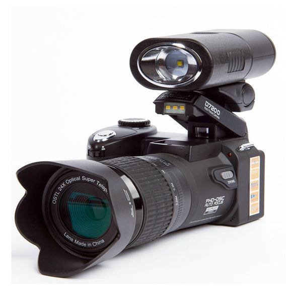 Led-Spotlight Dslr-Camera D7200 8x-Digital-Zoom Angle-Lens 24X Wide 13MP