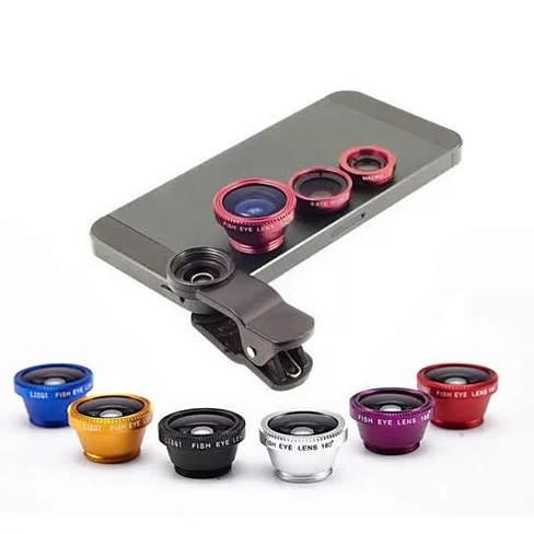 3-in-1 Universal Clip on Smartphone Camera Lens -