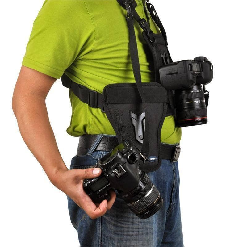 MICNOVA Carrier II Multi Camera Carrier Fotograaf Vest met Dual Side Holster Strap voor Canon Nikon Sony DSLR Camera, Go Camera Geek