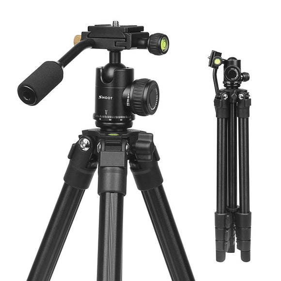 Flexible 4-sections Aluminum Camera Tripod