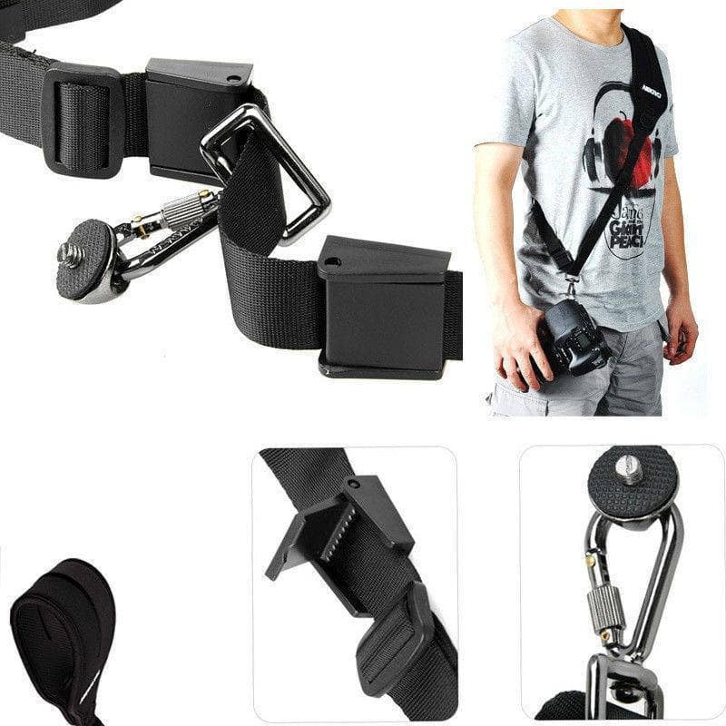 Photo DSLR Black Rapid Camera Shoulder Neck Strap Belt Sling for Canon Sony Nikon Panasonic, Go Camera Geek
