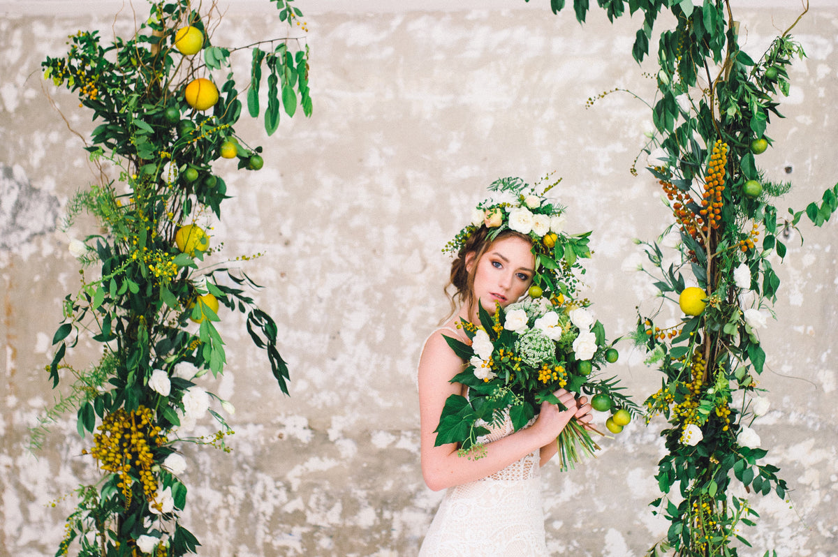 Industrial Citrus Wedding