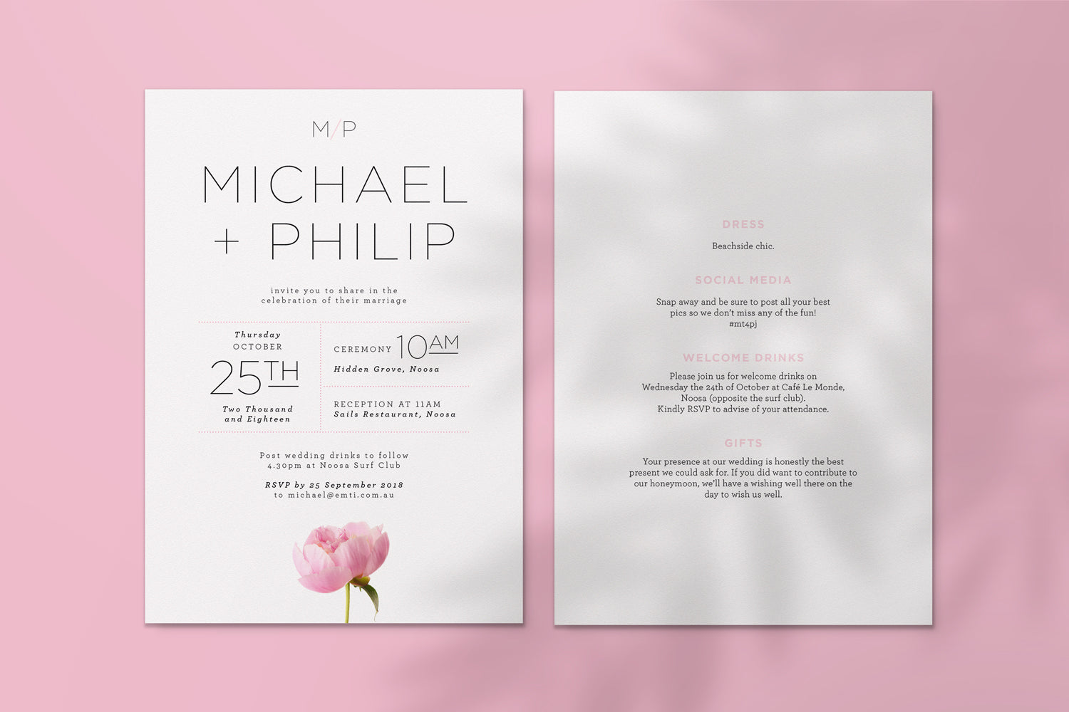 September-Creative-wedding-invitation-same-sex-peony