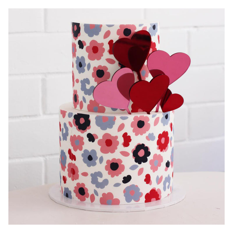 Heart Cake Topper - Mini
