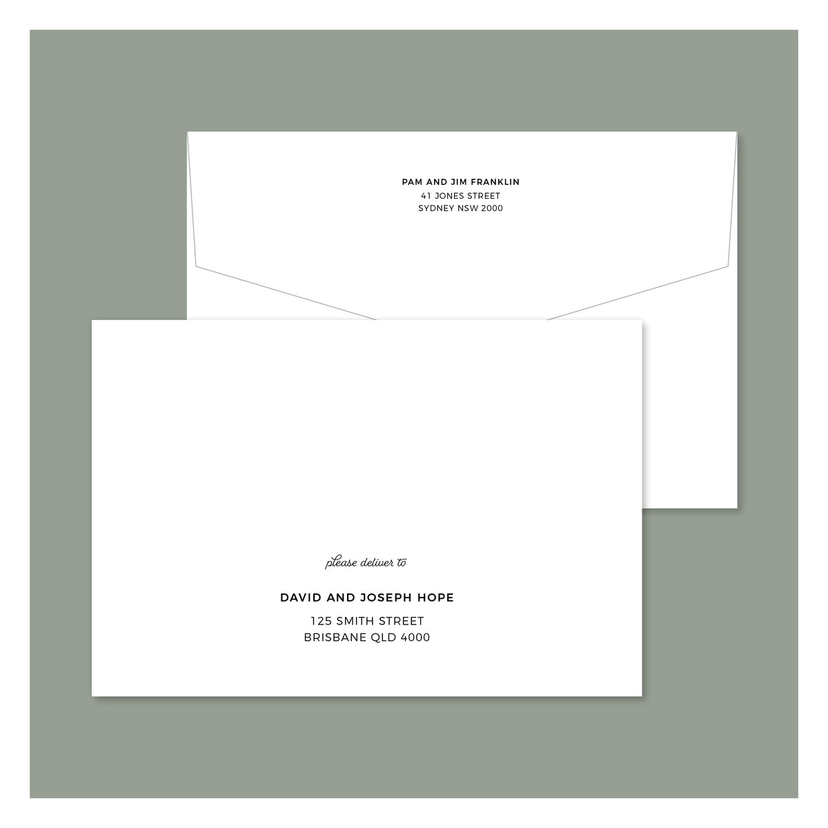 Envelope Printing - Miami - Colour
