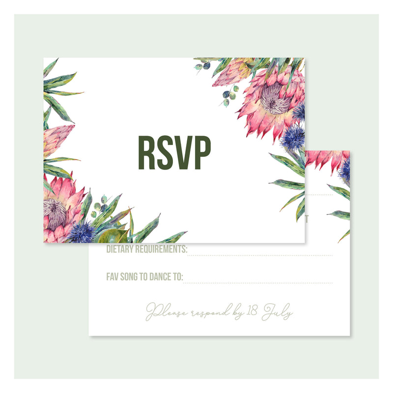Aussie Botanical • RSVP with Envelope