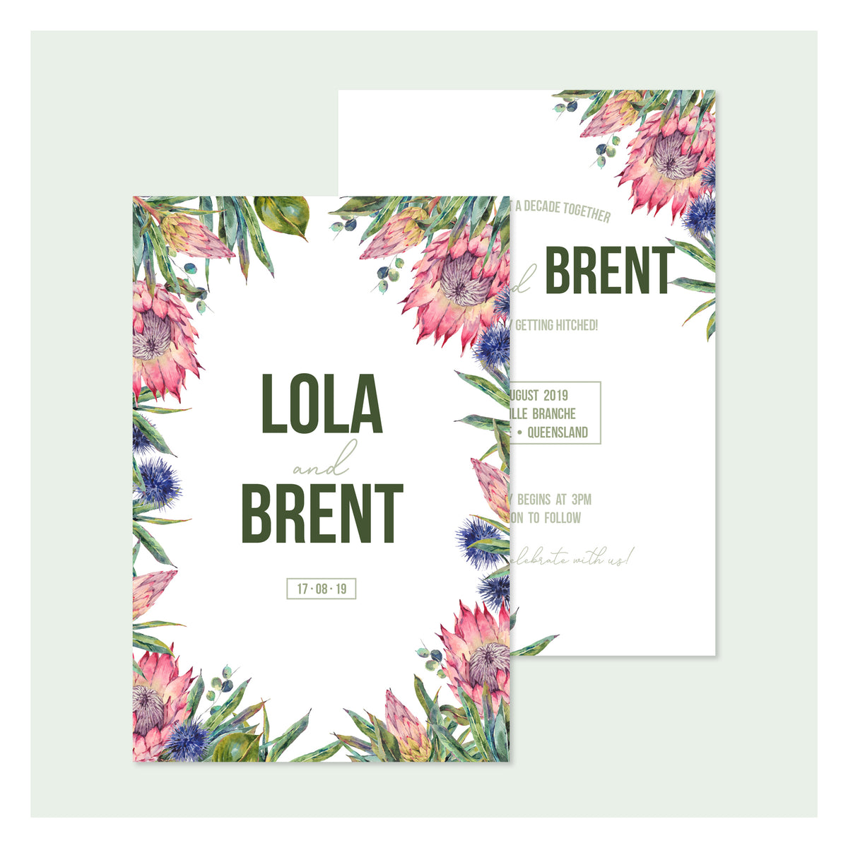 Aussie Botanical • Wedding Invitation