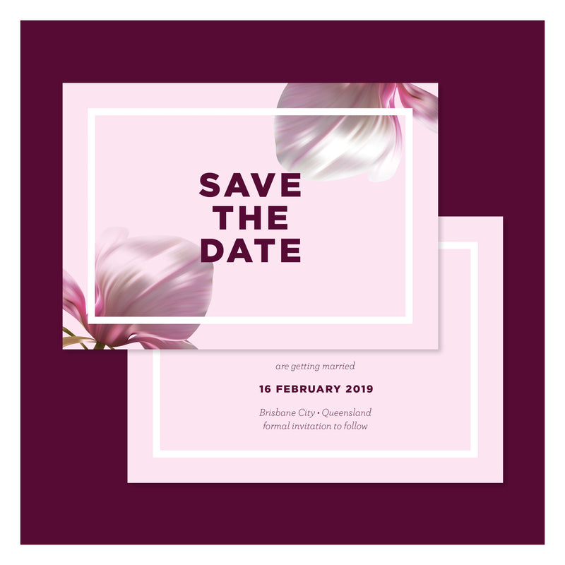 Blushing Magnolias • Save the Date