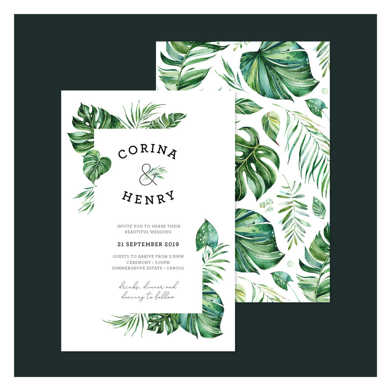 Emerald Jungle • Wedding Invitation