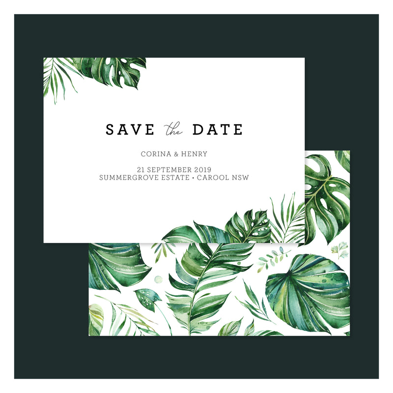 Emerald Jungle • Save the Date