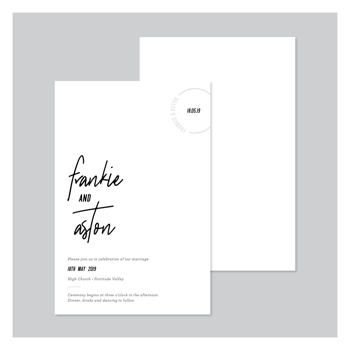 Frankly My Dear • Wedding Invitation