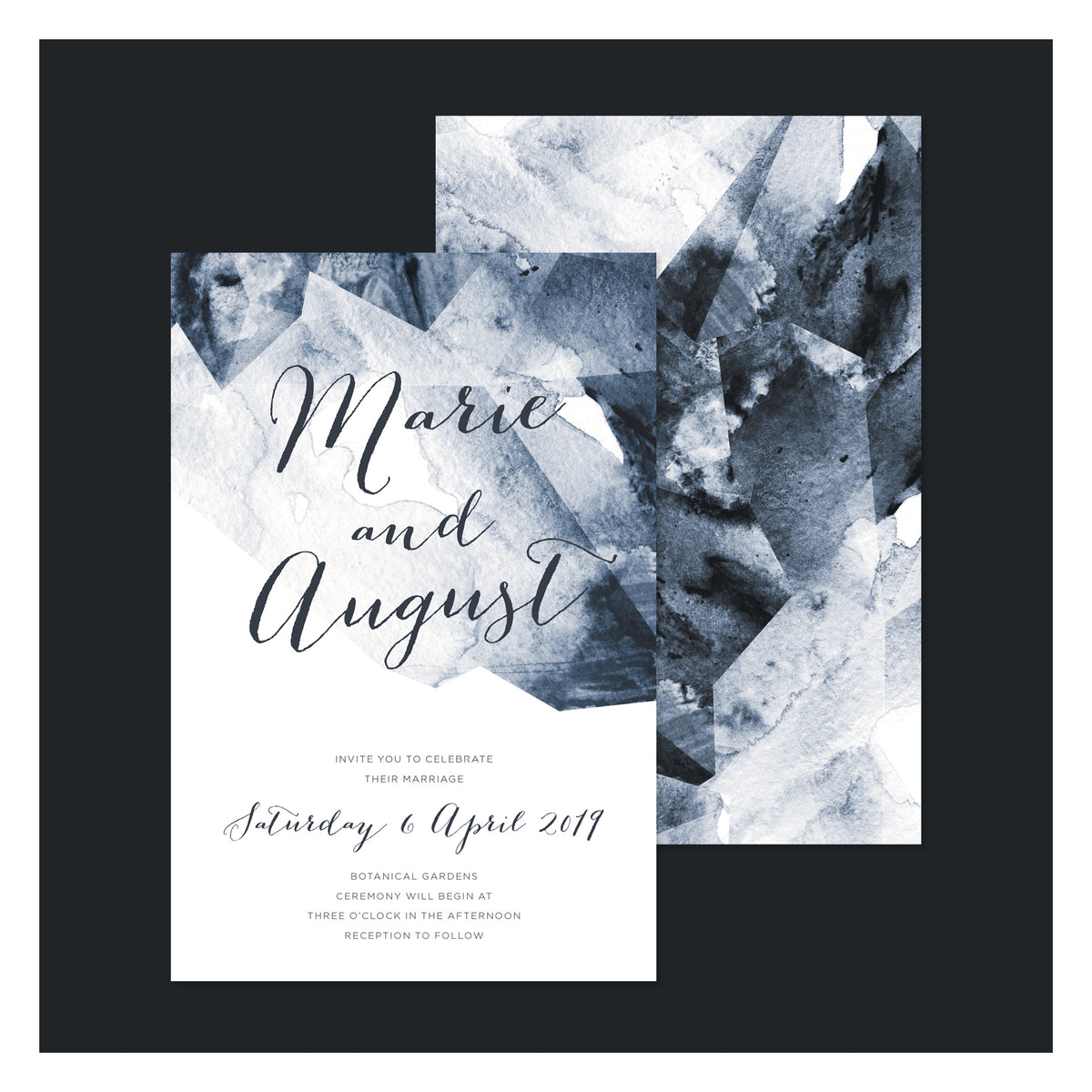 Geo Watercolour • Wedding Invitation