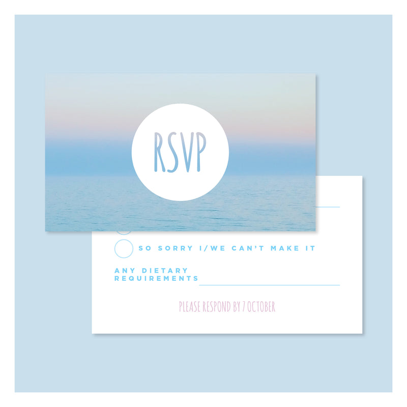 Island Paradise • RSVP with Envelope