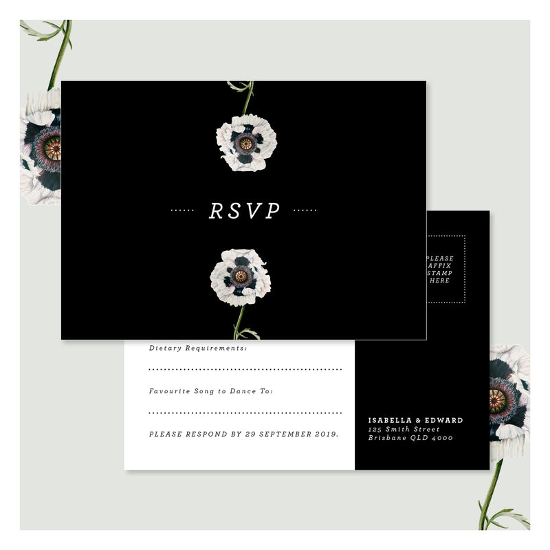 Modern Venus in Pitch Black • RSVP Postcard