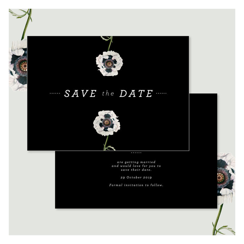 Modern Venus in Pitch Black • Save the Date
