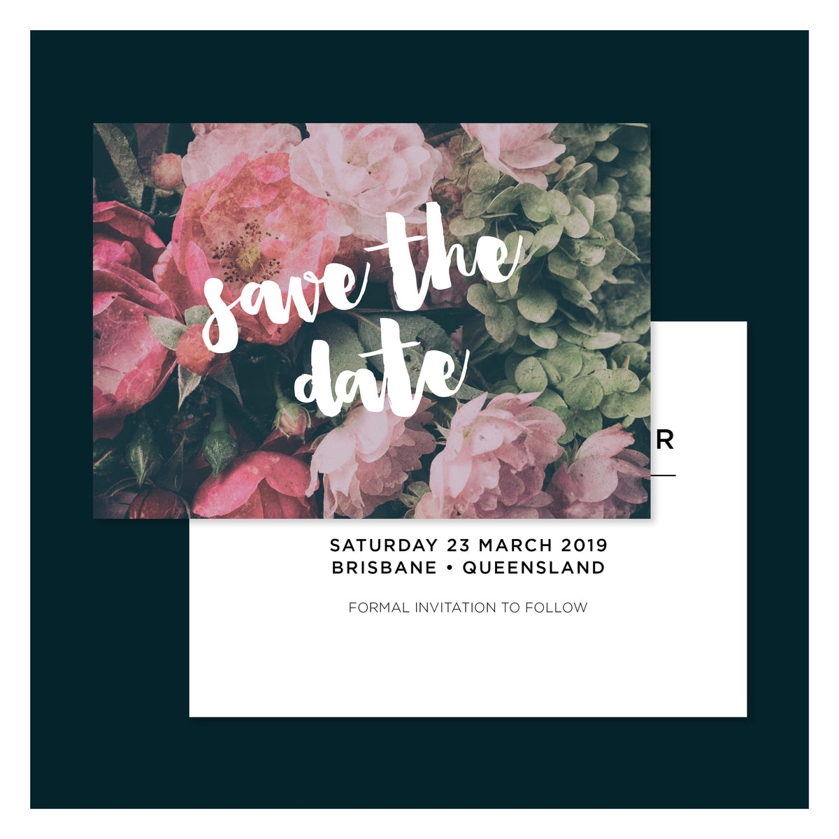 Moody Floral • Save the Date