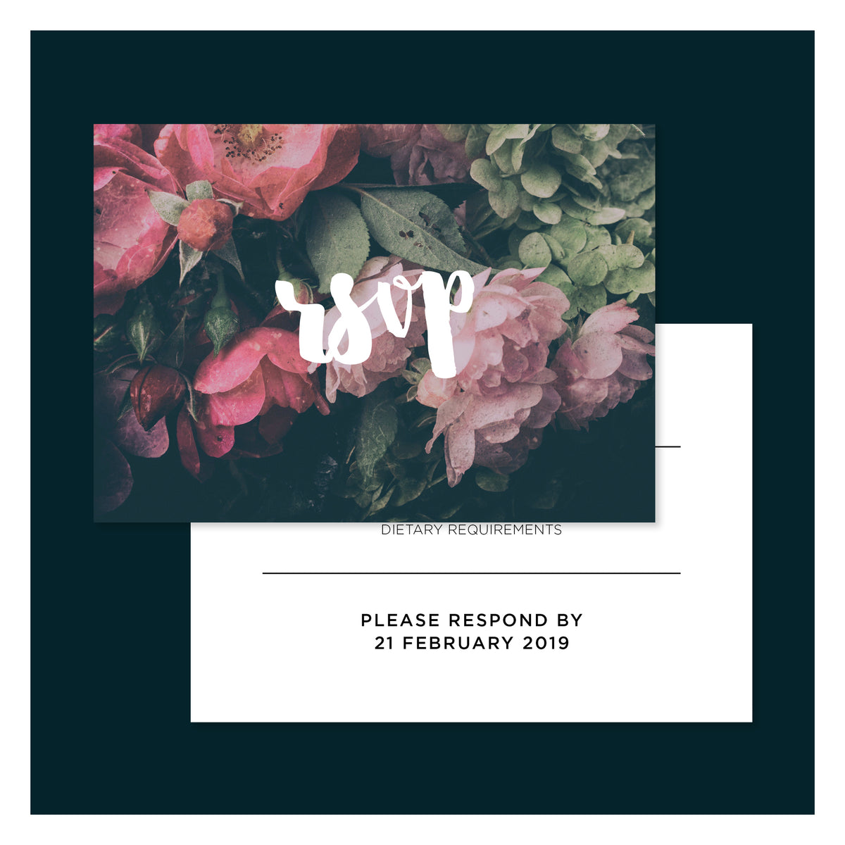 Moody Floral • RSVP with Envelope