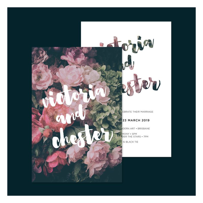 Moody Floral • Wedding Invitation