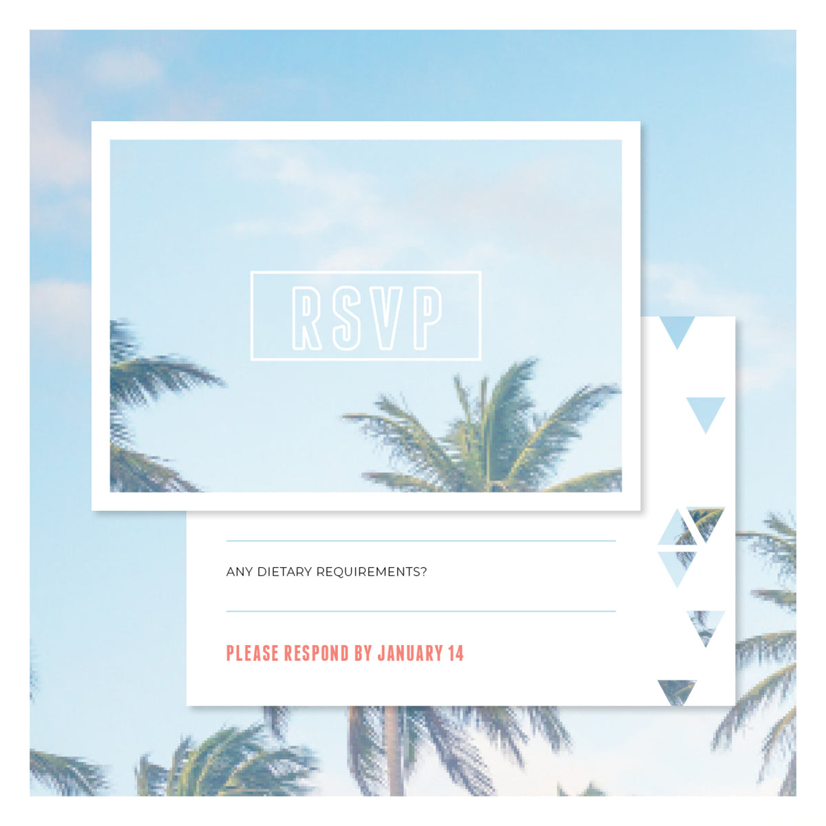 Palm Springs • RSVP with Envelope
