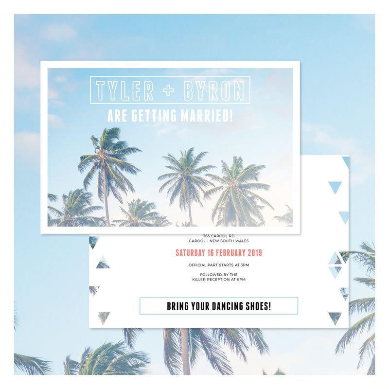 Palm Springs • Wedding Invitation