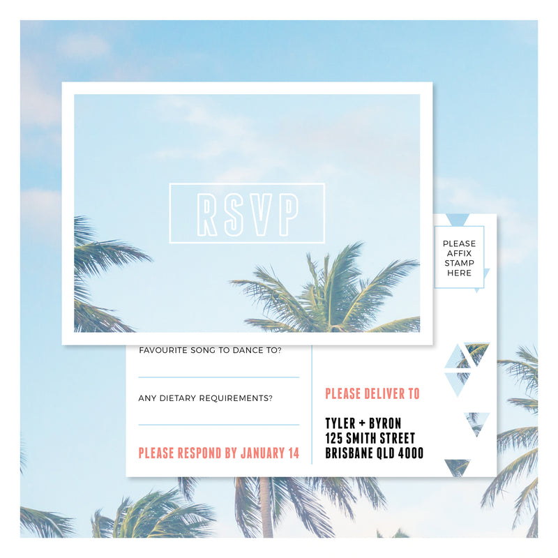 Palm Springs • RSVP Postcard