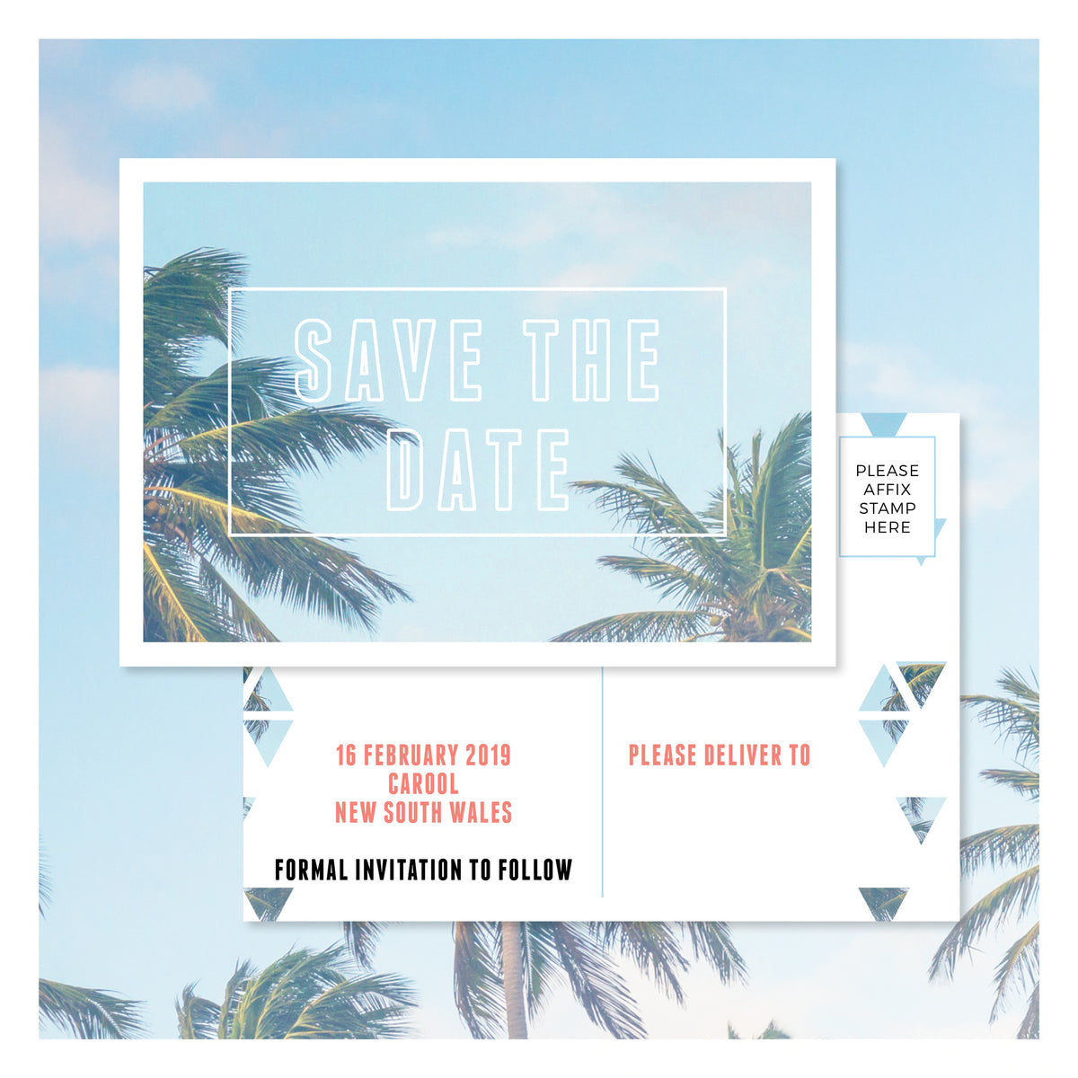 Palm Springs • Save the Date Postcard