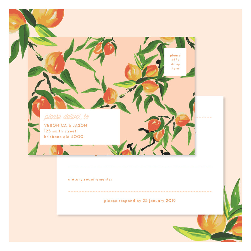 Peaches and Cream • RSVP Postcard