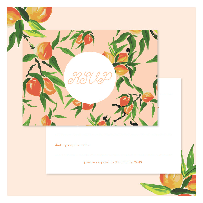 Peaches and Cream • RSVP with Envelope