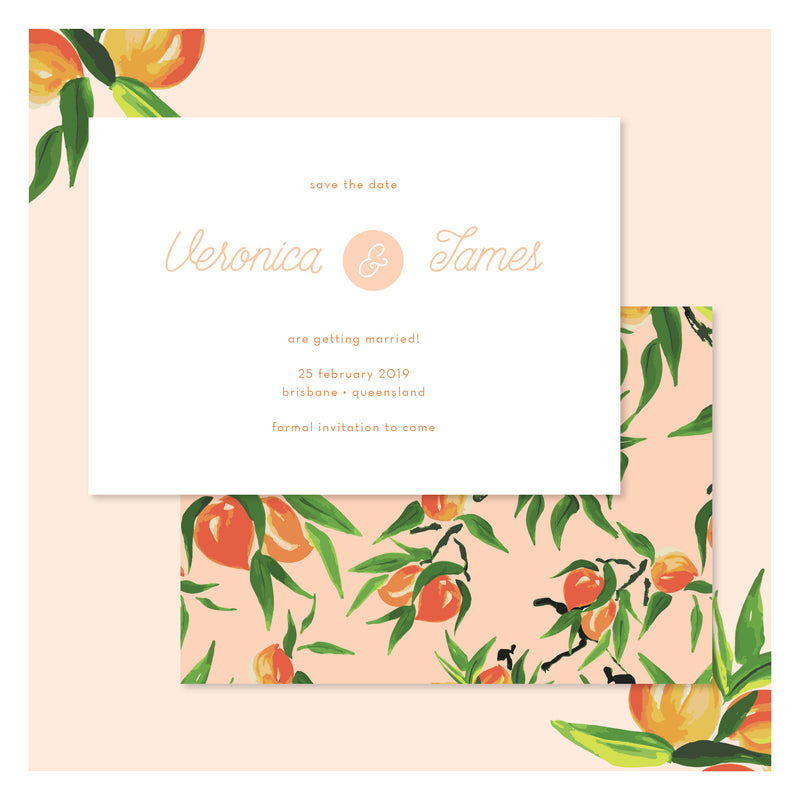 Peaches and Cream • Save the Date