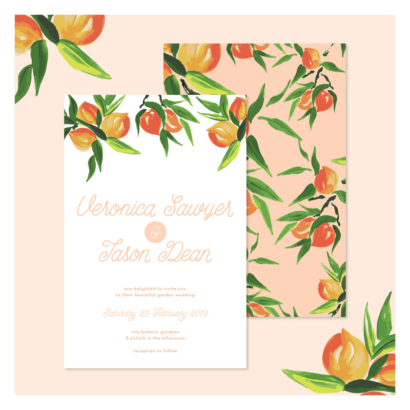Peaches and Cream • Wedding Invitation