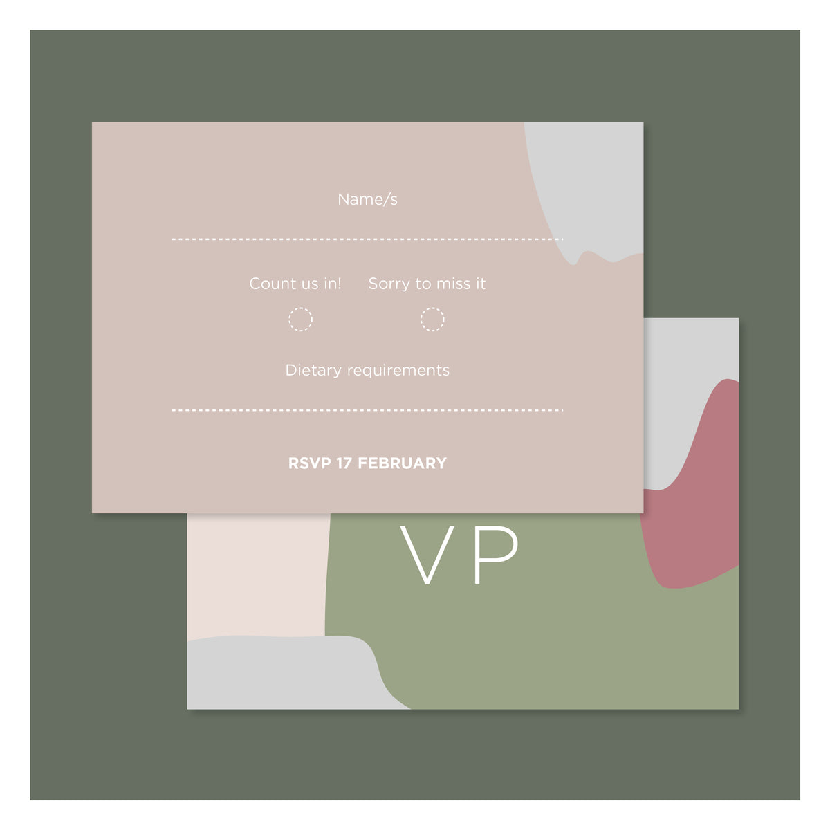 Pretty in Paint • RSVP with Envelope