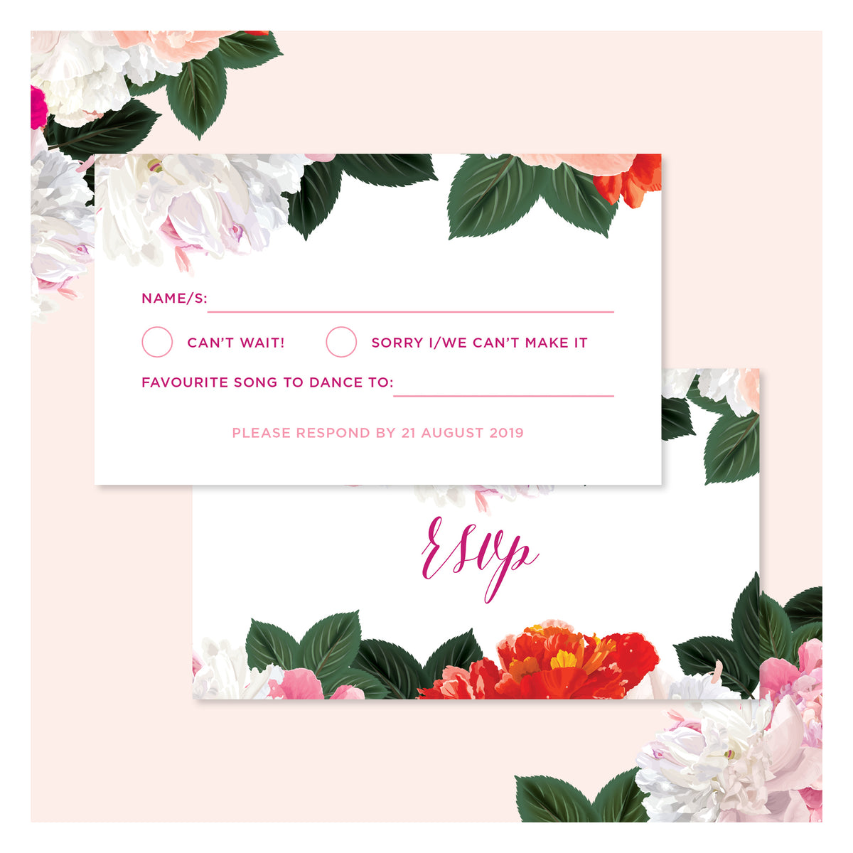 Spring Blooms • RSVP with Envelope