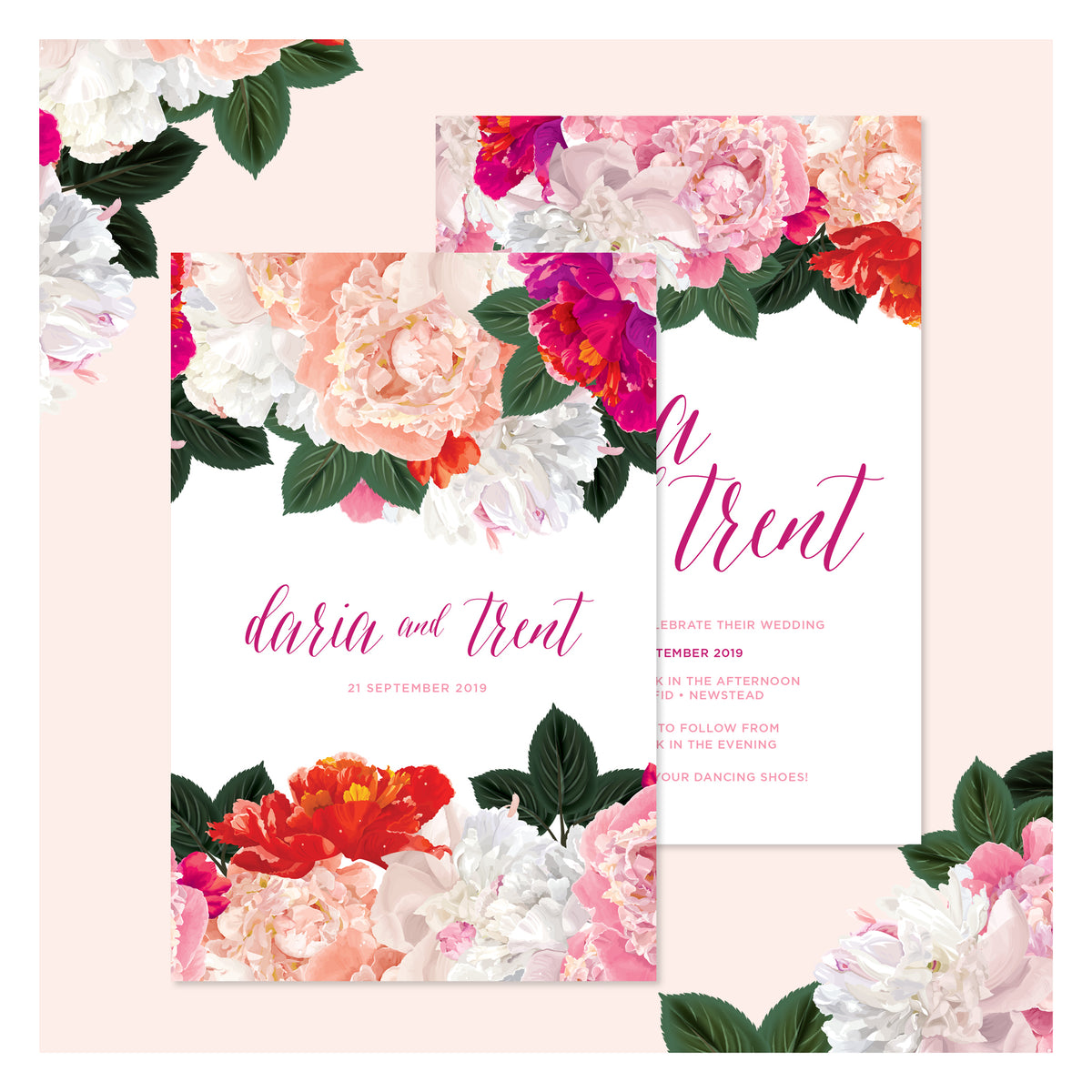 Spring Blooms • Wedding Invitation