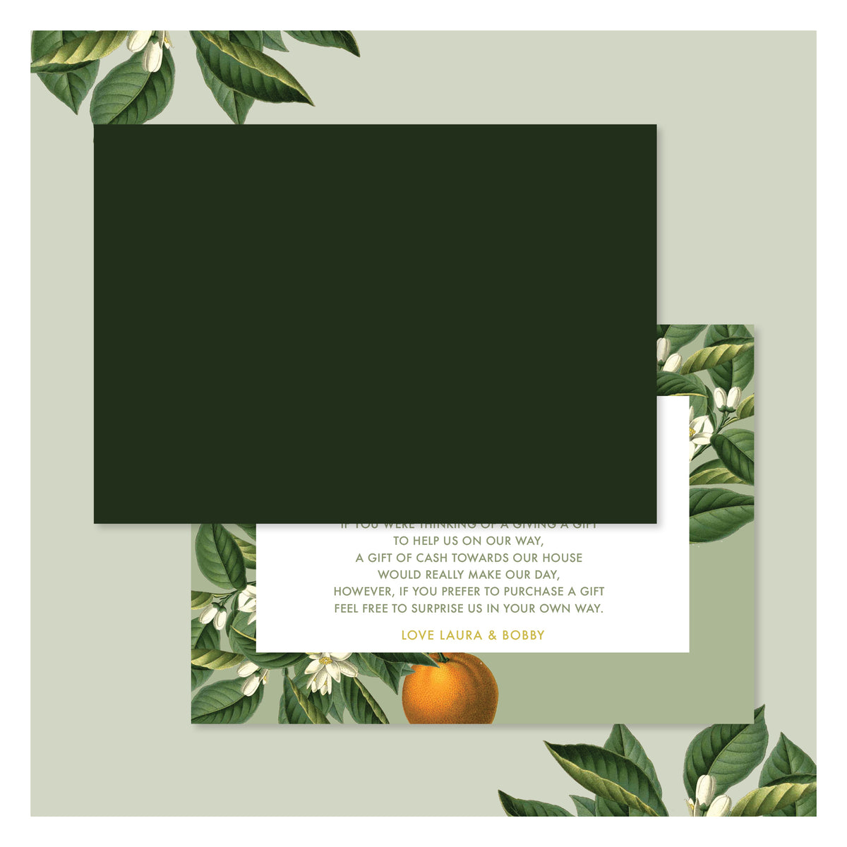 Sweet Citrus in Olive Green • Details