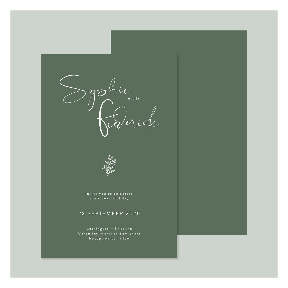 Sweet Flora • Wedding Invitation