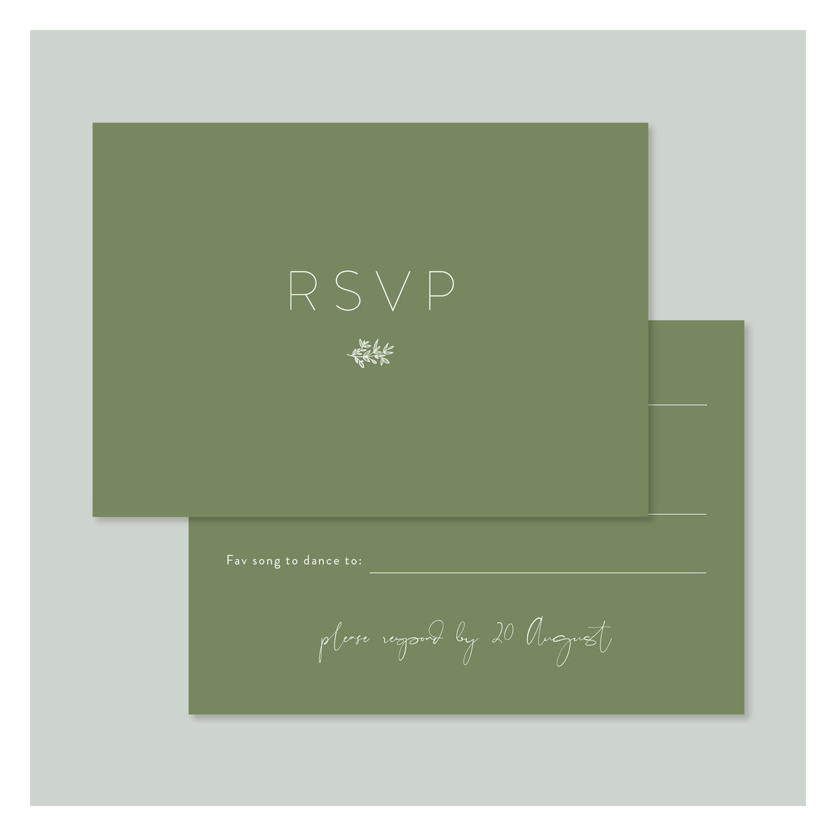 Sweet Flora • RSVP with Envelope