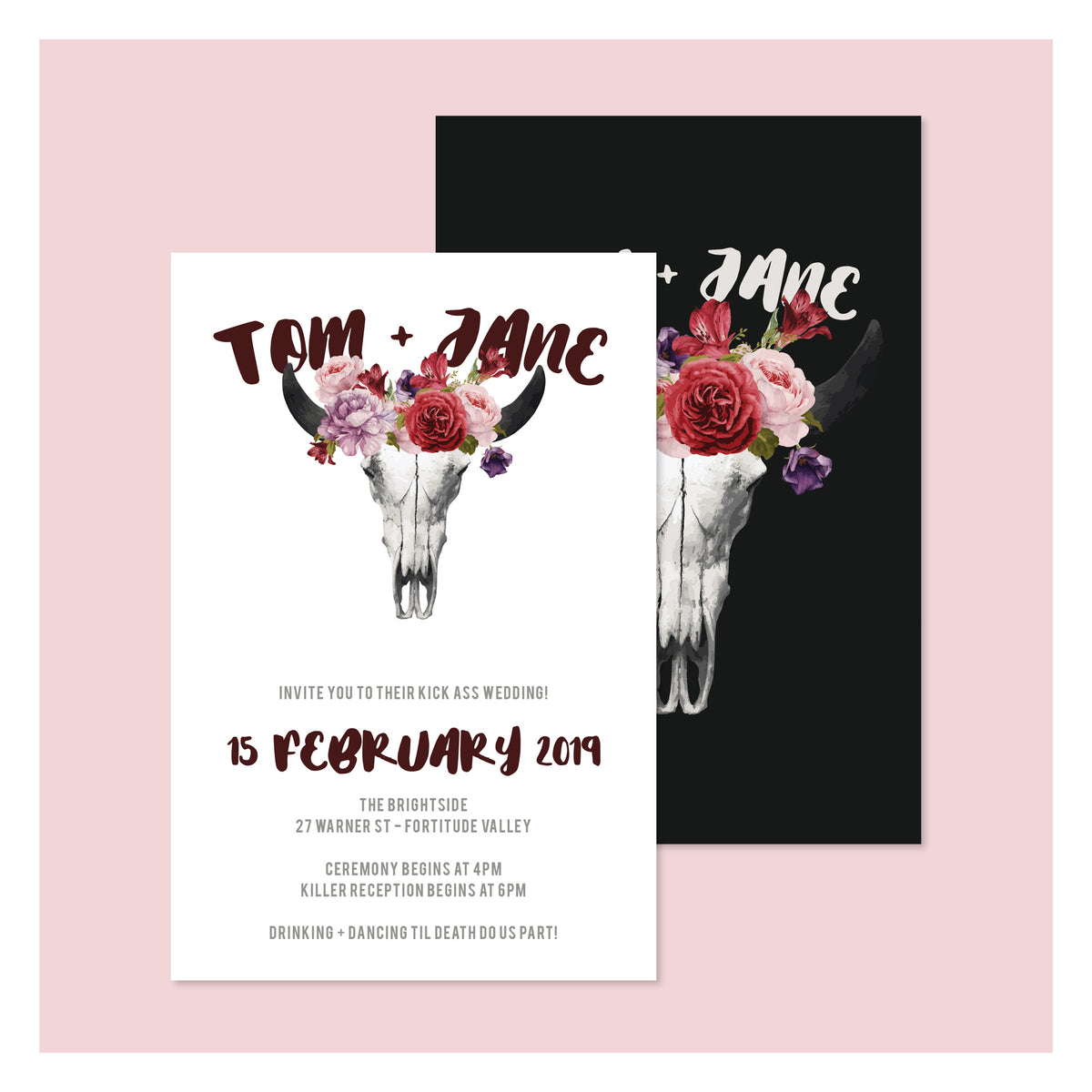 Til Death • Wedding Invitation
