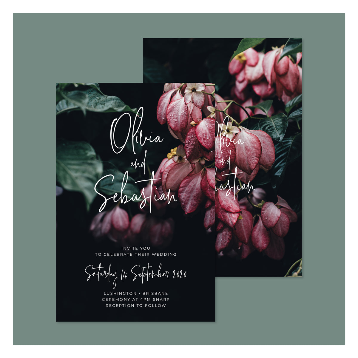 Jungle Florals • Wedding Invitation