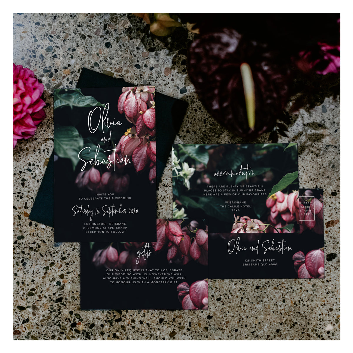 Jungle Florals • RSVP with Envelope