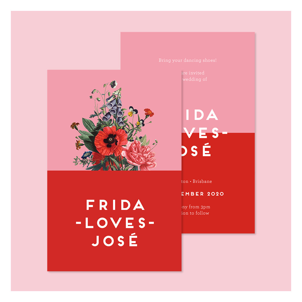 Wild Flowers • Wedding Invitation