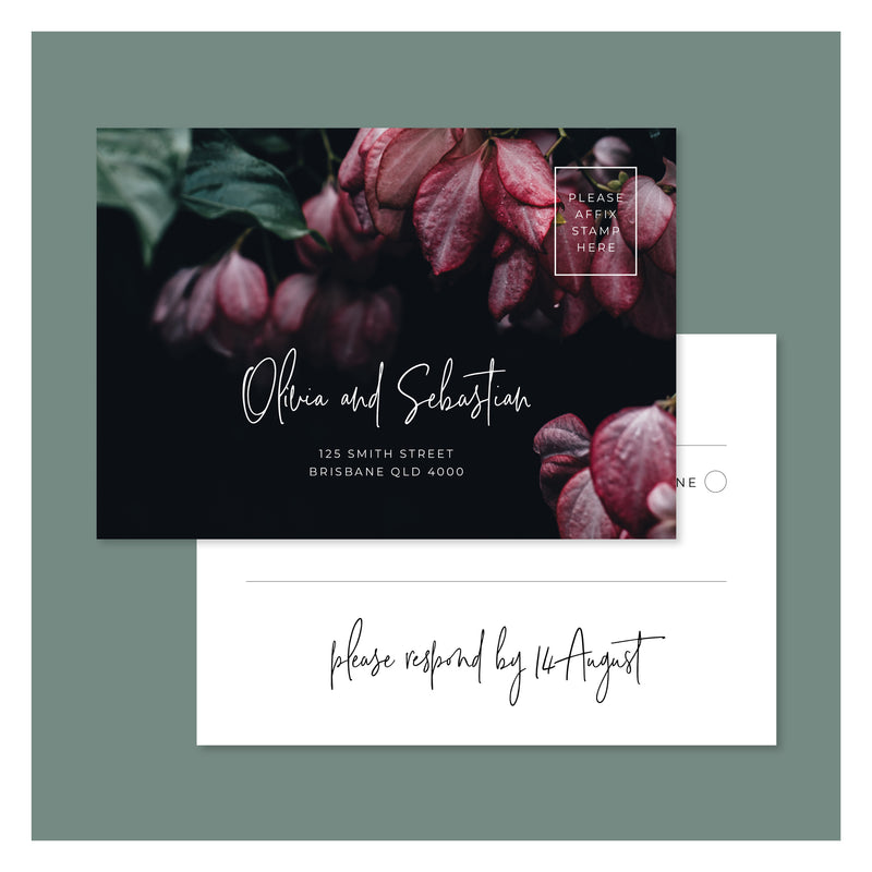 Jungle Florals • RSVP Postcard