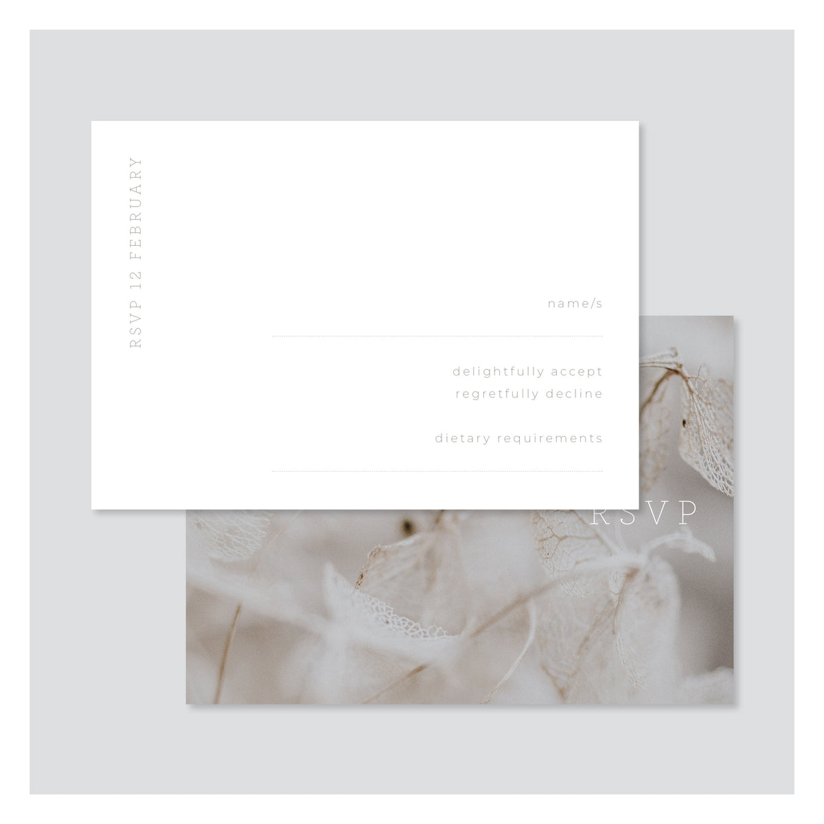 Leaf Lace • RSVP with Envelope