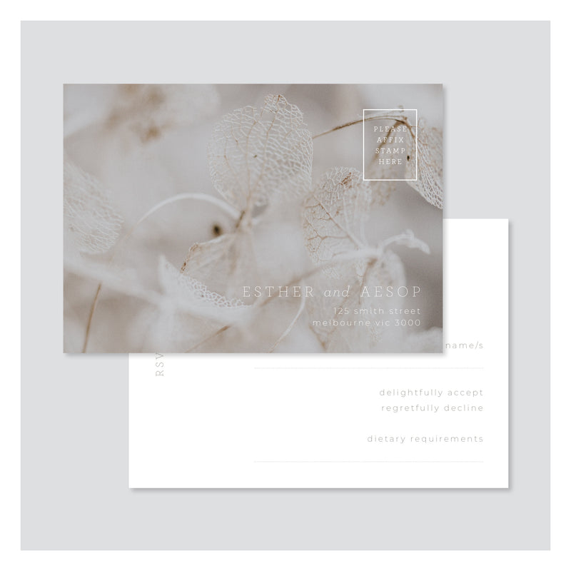 Leaf Lace • RSVP Postcard