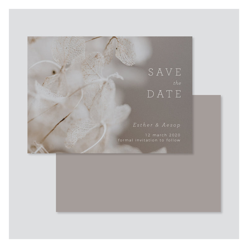 Leaf Lace • Save the Date