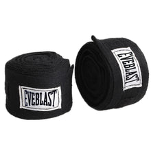 Pair of Cotton Boxing Bandage Hands Wraps - Black