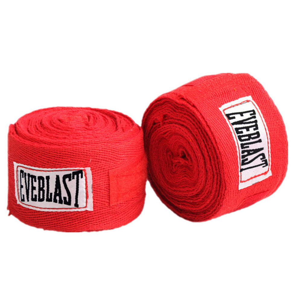 Pair of Cotton Boxing Bandage Hands Wraps - RED