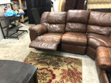 Brown Leather Sectional Recliner and Hide-A-Bed (DELIVERY INCLUDED)