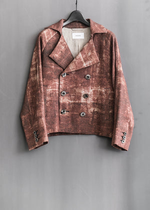 PRINT DOUBLE SHORT JACKET