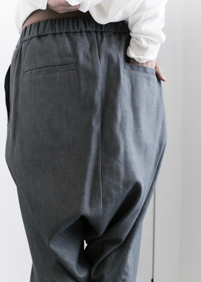DENIM SHORT SOLID ZERO PANTS