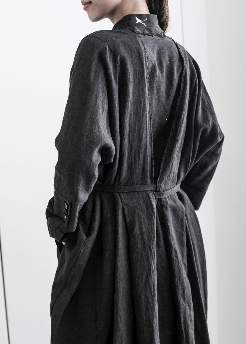 LINEN KOSODE COAT